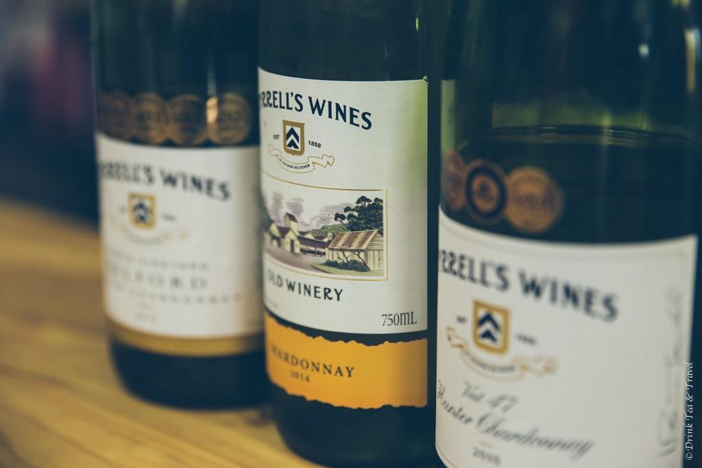 Selection of Chardonnay at Tyrrell's, Hunter Valley, NSW, Australia