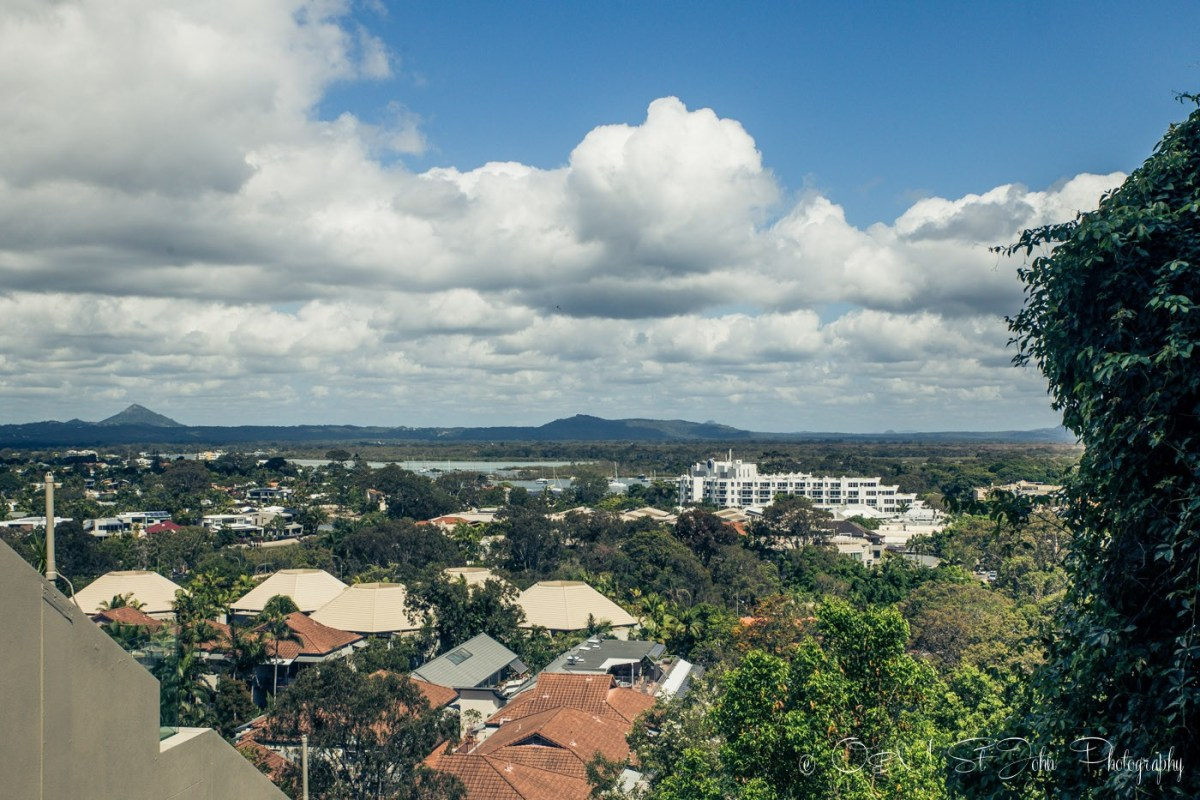 View from our Airbnb accommodation in Noosa, QLD, Australia