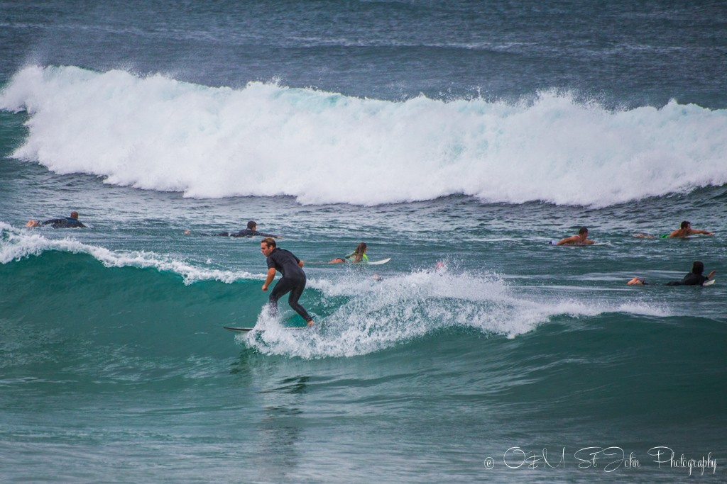 Surfers on Towns Beach, Port Macquarie, NSW