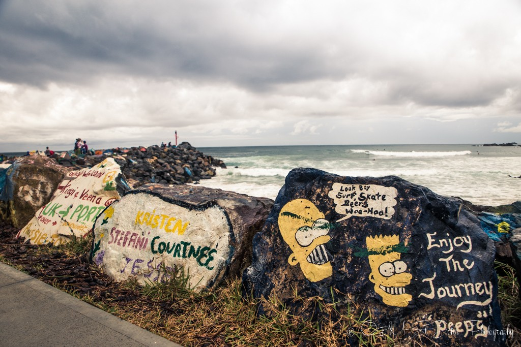 Travel themed rocks are also popular, Port Macquarie, NSW