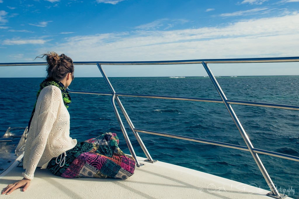 On the boat in Exmouth, Western Australia