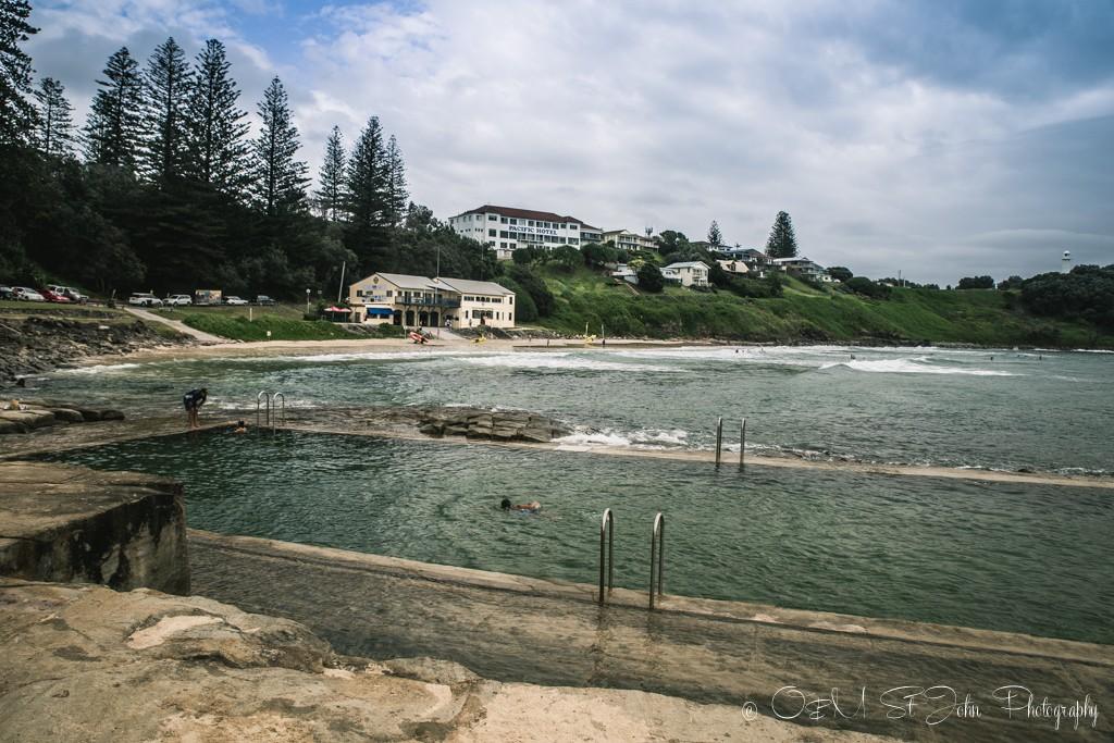 Ocean pools at the Yamba Main Beach, NSW