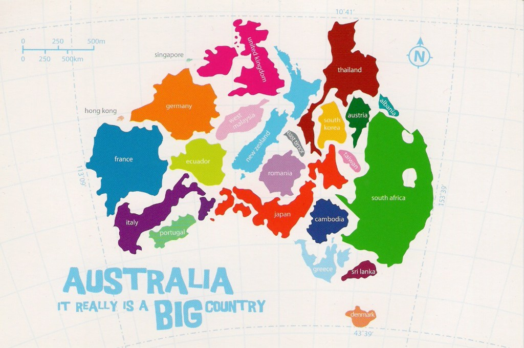 Australia it really is a big country