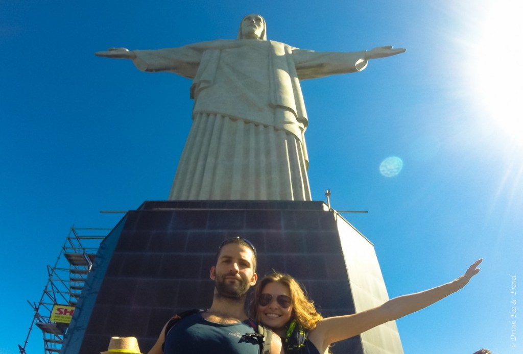 The classic tourist shot with Christ the Redeemer