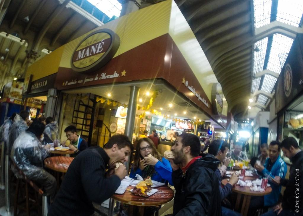 Enjoying Brazilian food at Central Market in São Paulo