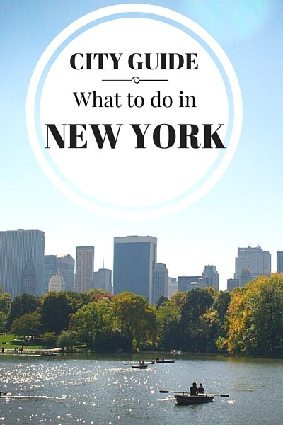 New York City is a place everyone should visit at least once!