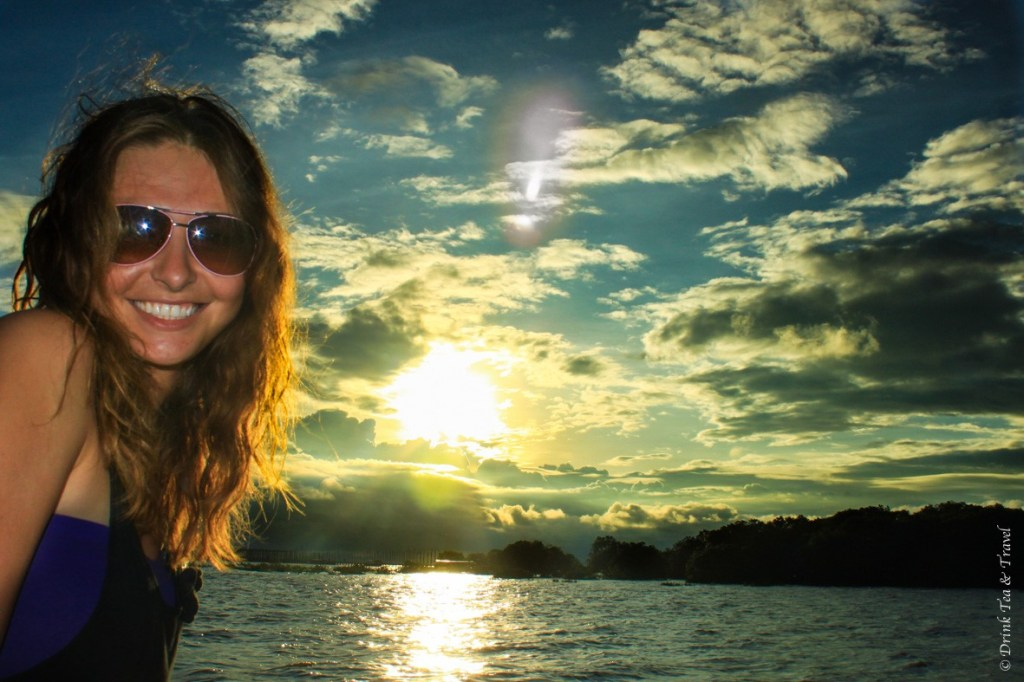Nothing but smiles as I watch another beautiful sunset while exploring the floating village in Cambodia