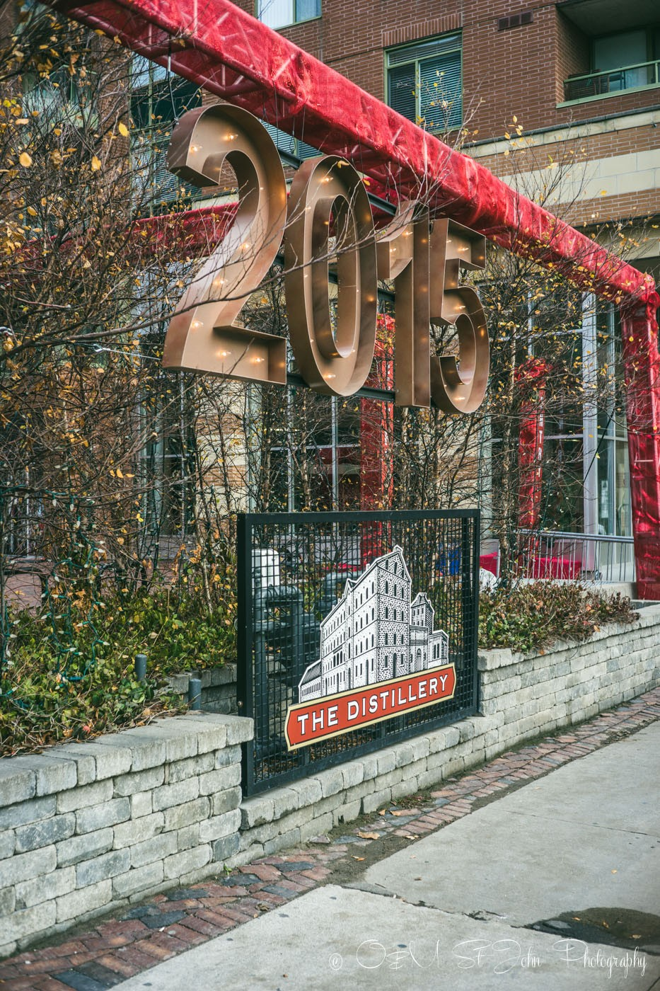 Toronto Christmas Markets at the Distillery Historic District. Canada