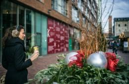 Oksana at Toronto Christmas Markets at the Distillery Historic District. Canada