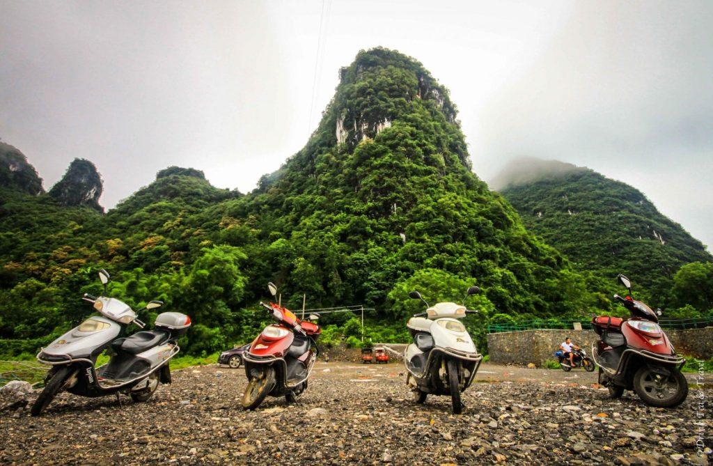 Karst mountains in Yangshuo, Guangxi, China