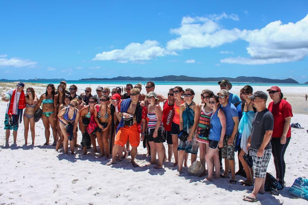 Contiki Australia Group in Whitsundays. Australia