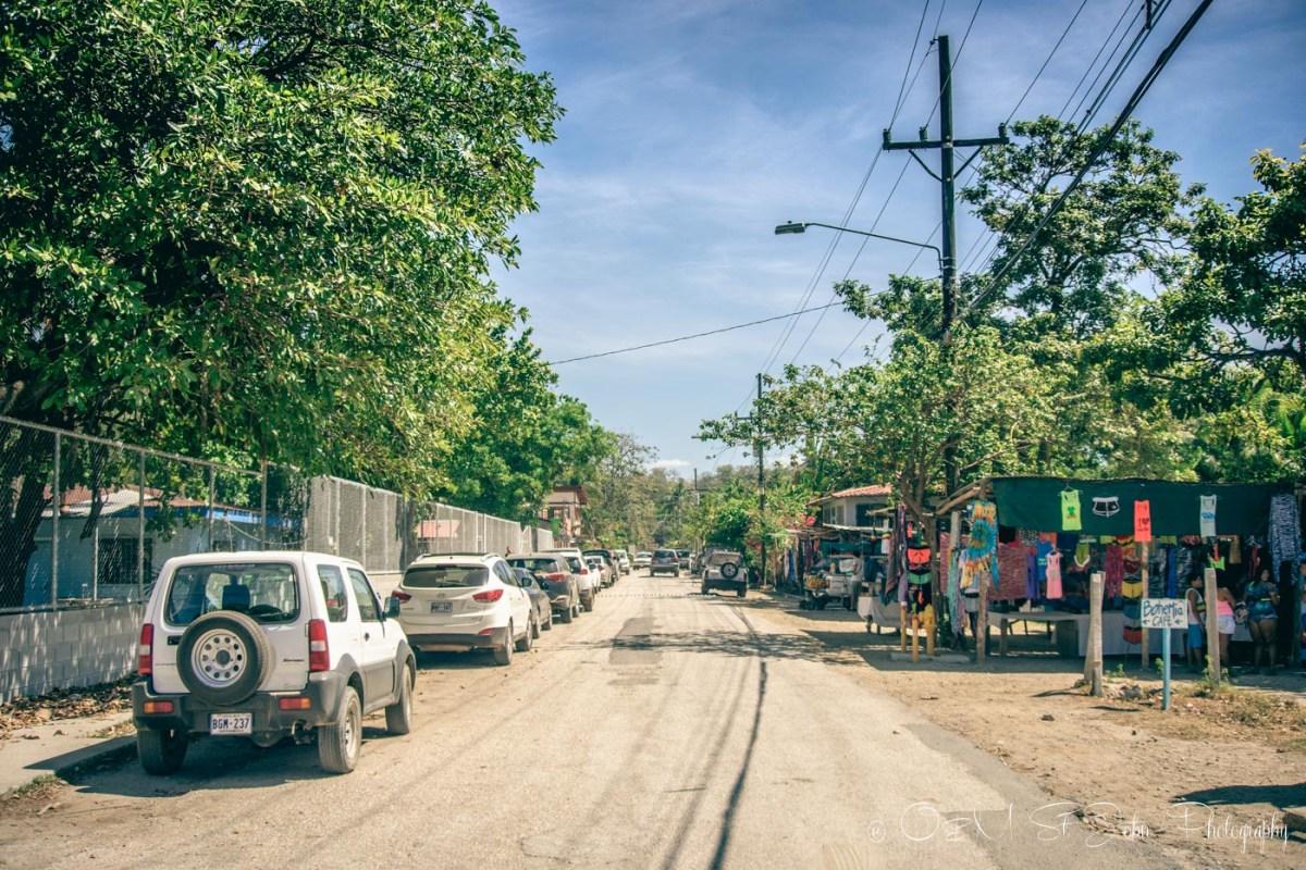 Street in Samara, Guanacaste. Costa Rica