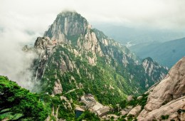 One of the higher peaks on Huangshan