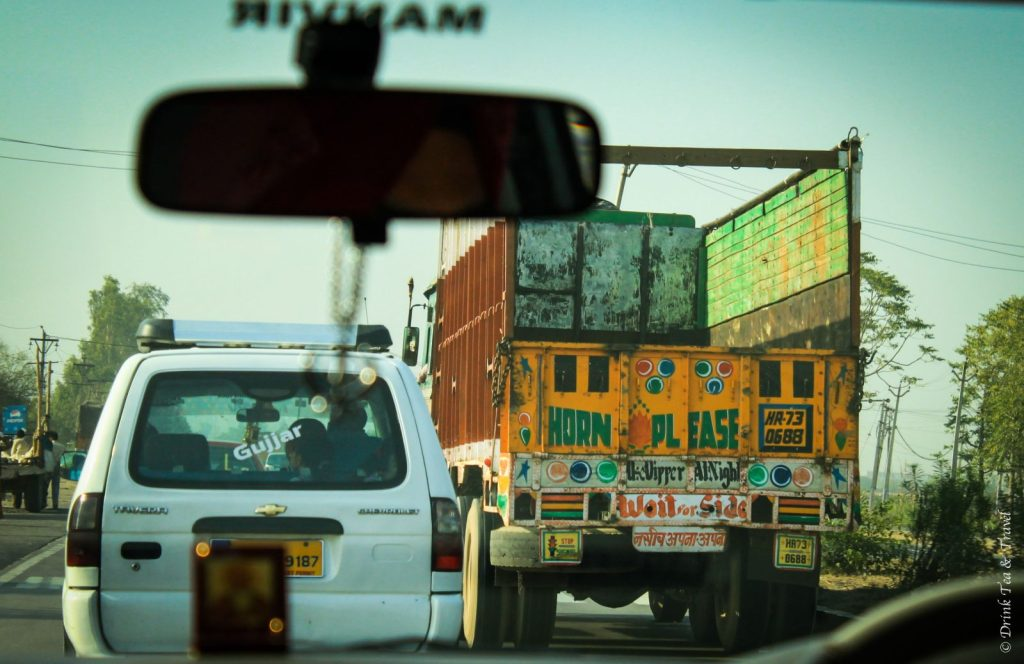 Please honk sign on a truck in India