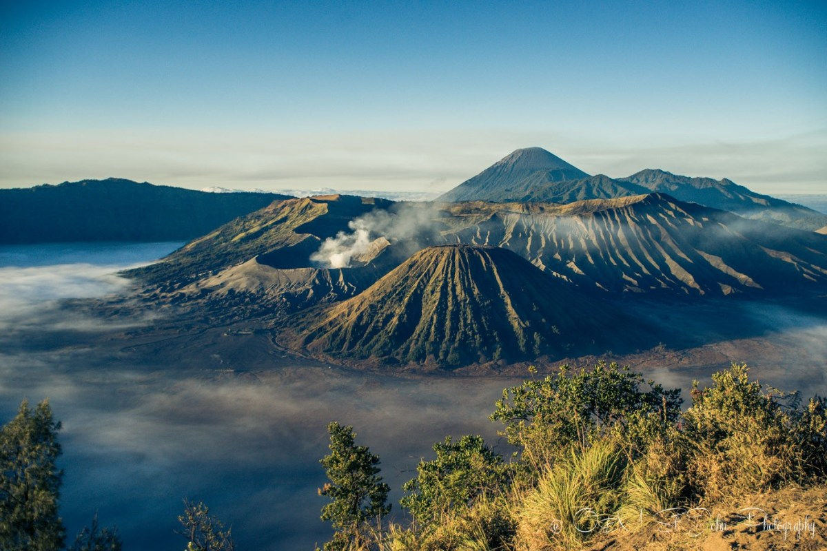 2 Weeks in Indonesia: Max & Oksana at Mt Bromo at sunrise. East Java, Indonesia