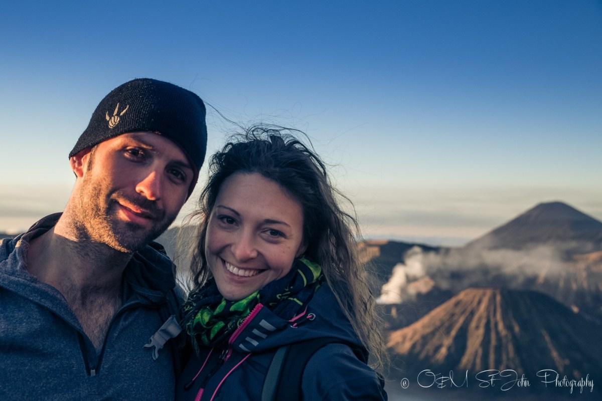 Max & Oksana at Mt Bromo at sunrise. East Java, Indonesia