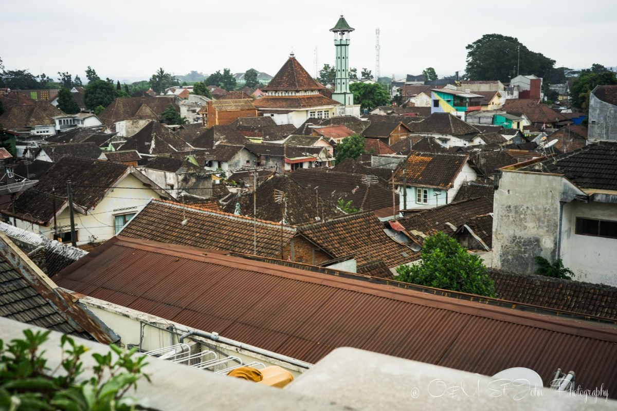 View from Kampong Tourist Hostel, Malang, Java. Indonesia