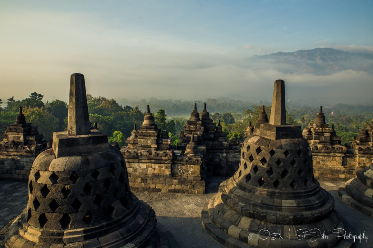 Borobudur Temple shortly after sunrise. Java. Indonesia