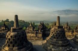 Borobudur Temple shortly after sunrise. Java. Indonesia