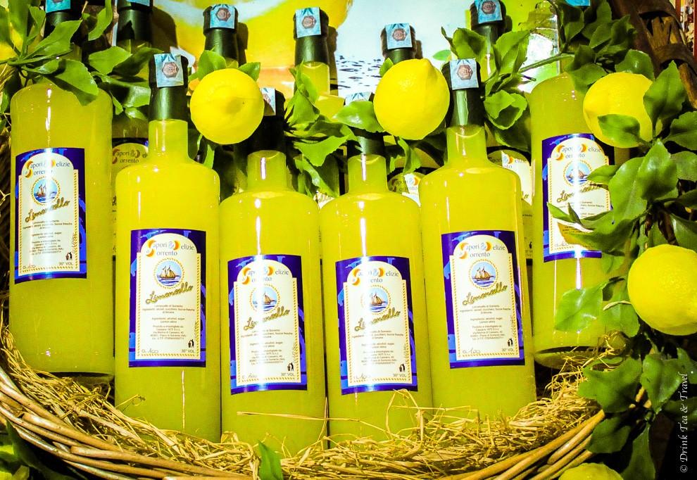 Limoncello Lemon Liquor Amalfi Coast Italy