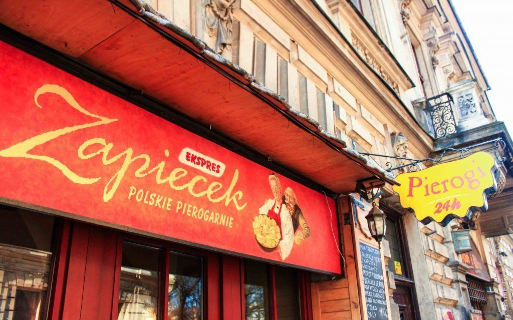 Pierogies shop in Krakow, Poland