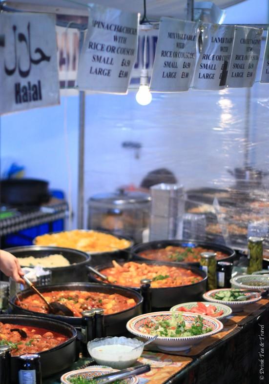 Food stall in Camden Lock Market, Camden Town London