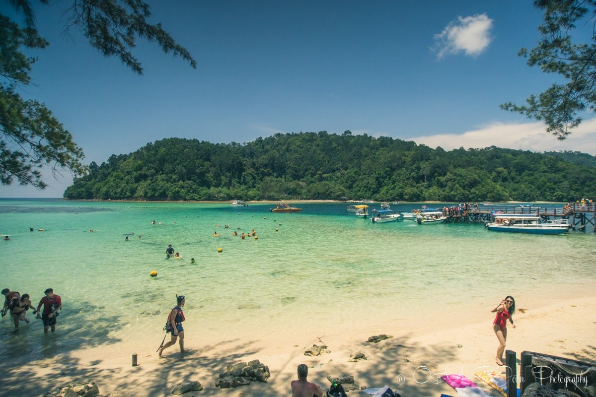 Sapi Island, one of the 5 islands within the Tunku Abdul Rahman Park near Kota Kinabalu, Sabah. Malaysia