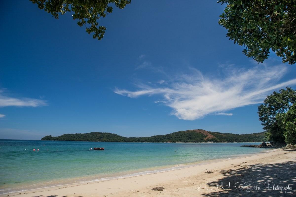 deserted beach in Manana Resort. Sabah. Malaysia