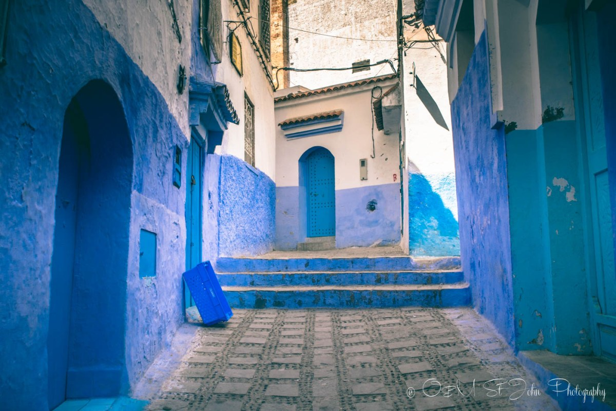 These blue hues are upkept every year. Chefchaouen. Morocco