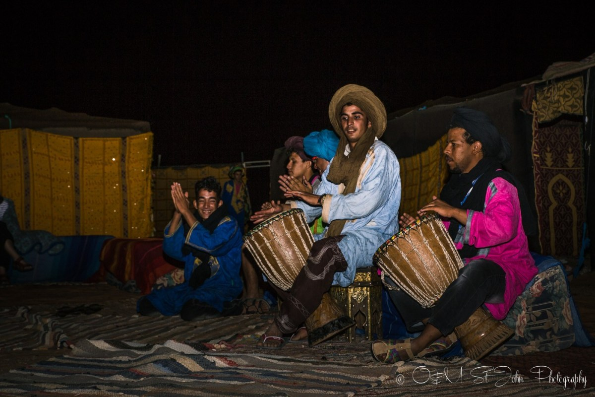 Berber performance in the Sahara Desert camp. Morocco