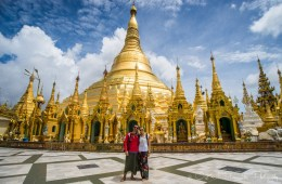 Max & Oksana in Yangon. Myanmar