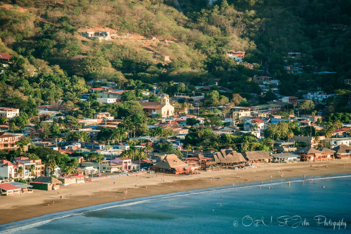 San Juan del Sur, view from the Christ of Mercy Statue. Nicaragua