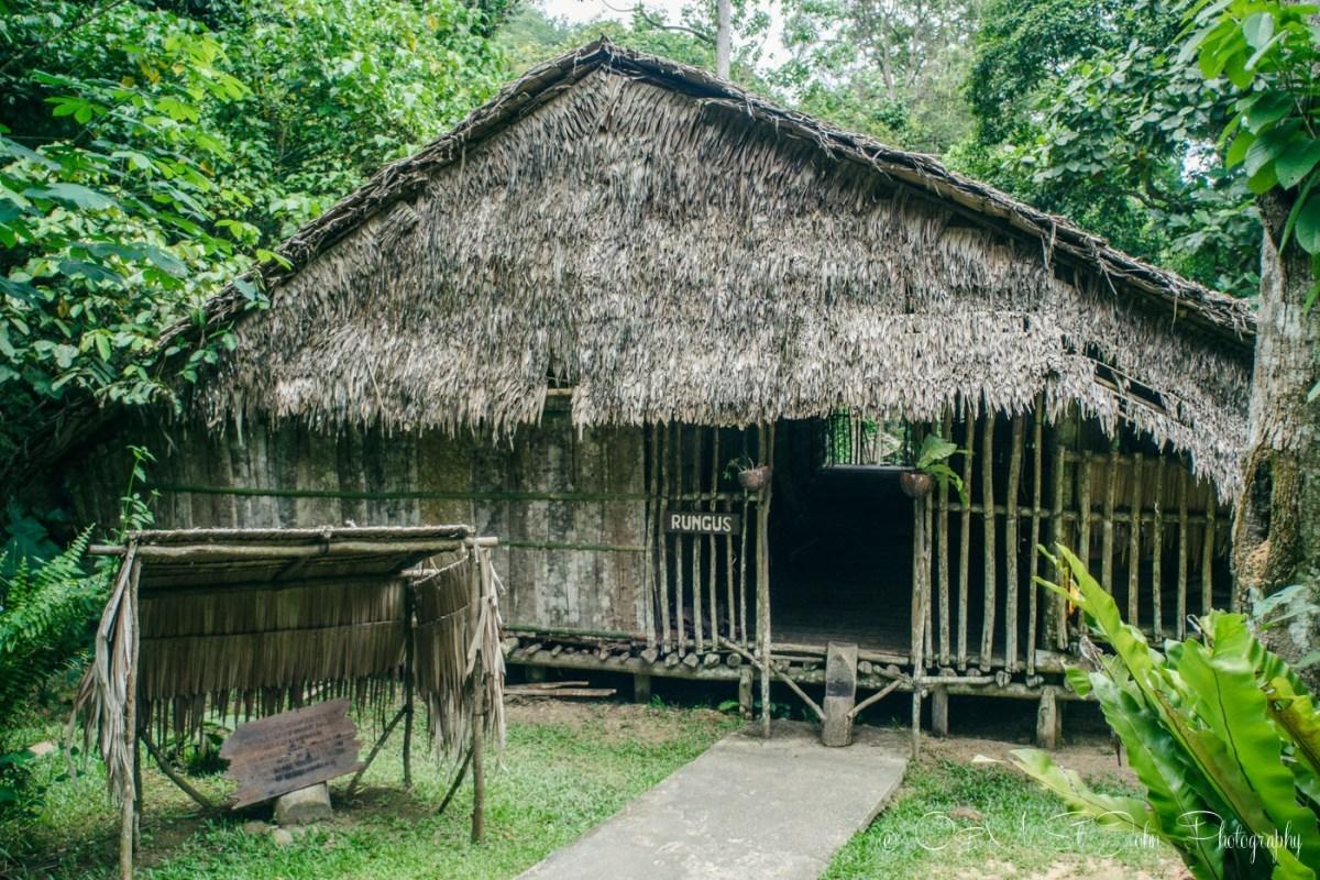 Rungus tribe hut at the Mari Mari Cultural Village. Sabah. Malaysia