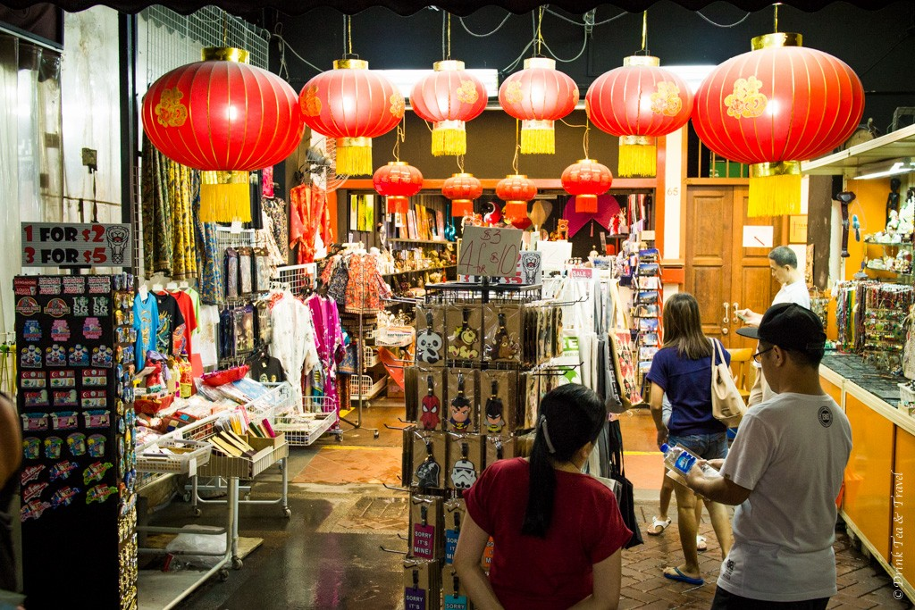 Shopping street in Chinatown, Singapore
