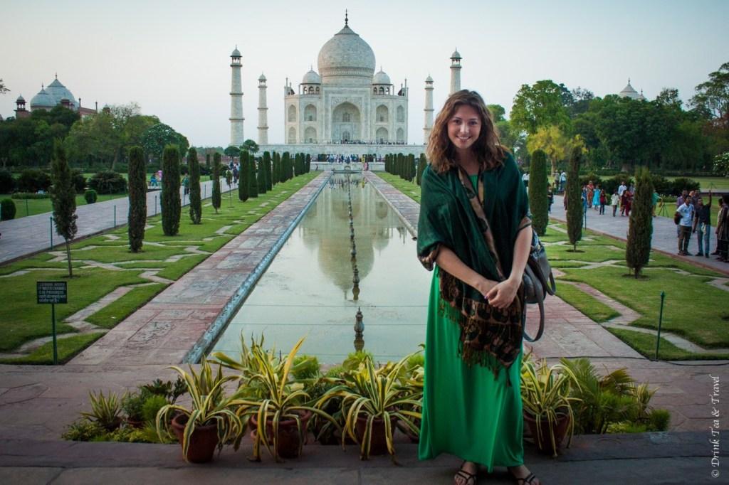 Ticking off a big bucket list item at the Taj Mahal in India