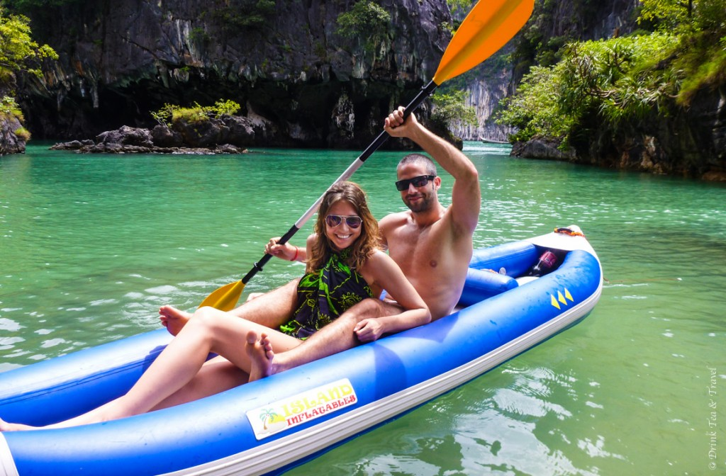 Kayaking around the islands off the Western coast of Thailand