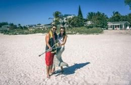 Max & Oksana on anna Maria Island Beach in Florida, USA