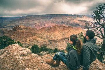 Max & Oksana in Grand Canyon Arizona. USA Road Trip
