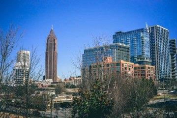 Sunny day in Atlanta in the winter. USA