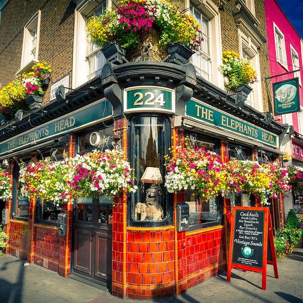 Elephants Head Pub, Camden Town, London
