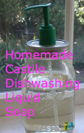 homemade castile dishwashing soap by ecokaren