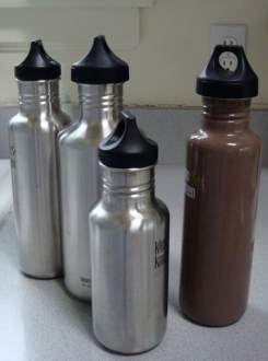 klean kanteen reusable water bottle collection