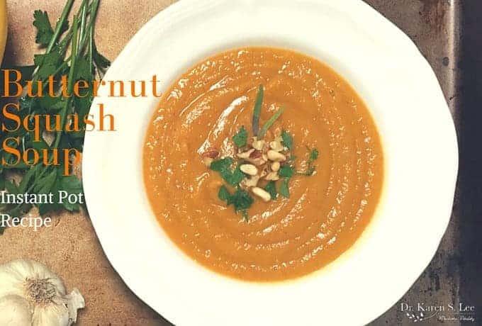 Butternut Squash Soup for Instant Pot by drkarenslee