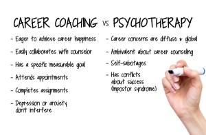 career coaching vs psychotherapy washington dc