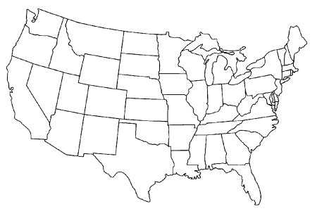 pics photos blank map of the united states of america