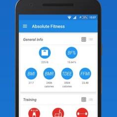 absolute fitness aplikacija