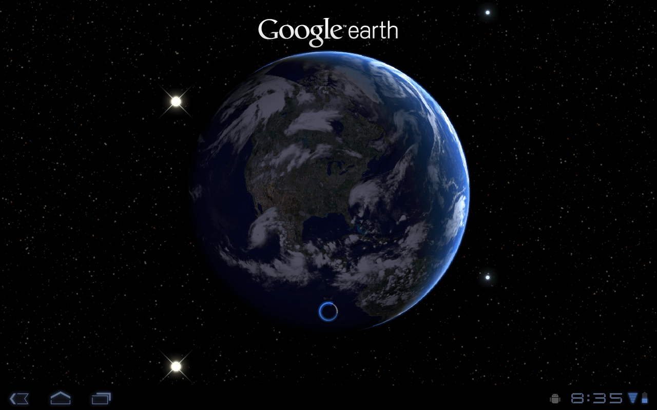 how to use google earth on android
