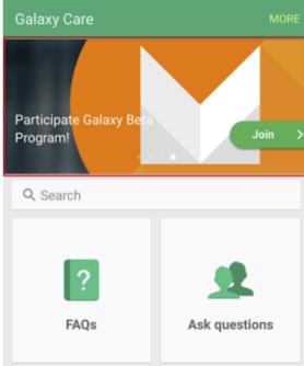 Participate Galaxy Beta Program