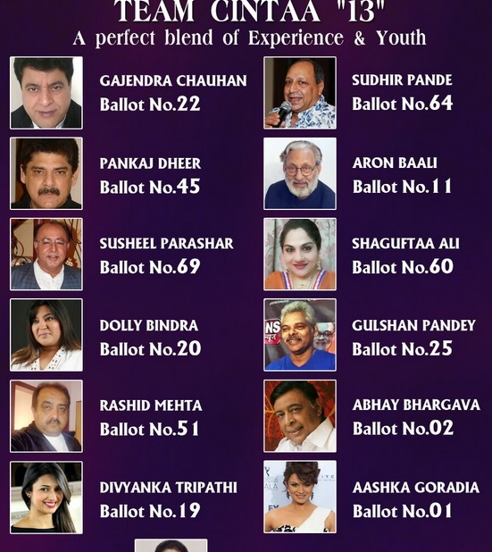 CINTAA Elections Candidates