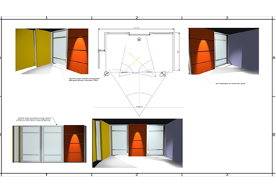Hair Club Set Design Drawings
